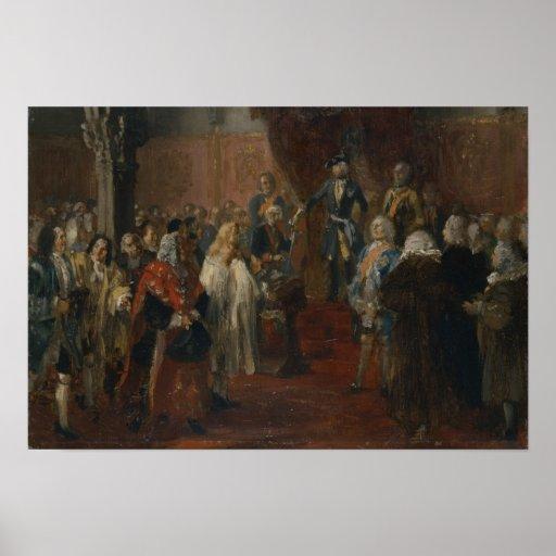Escena silesia del homenaje, 1855 posters