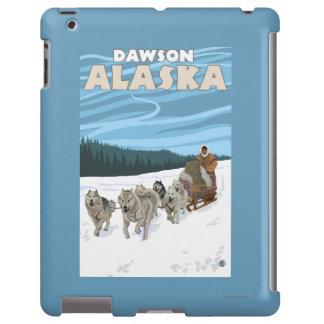 Escena Sledding del perro - Dawson, Alaska Funda Para iPad