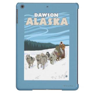 Escena Sledding del perro - Dawson, Alaska Funda Para iPad Air