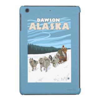 Escena Sledding del perro - Dawson, Alaska Fundas De iPad Mini Retina