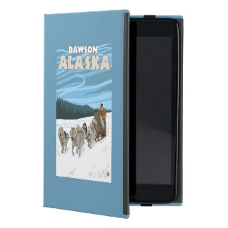 Escena Sledding del perro - Dawson, Alaska iPad Mini Protectores