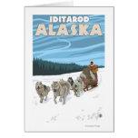 Escena Sledding del perro - Iditarod, Alaska Tarjeta De Felicitación