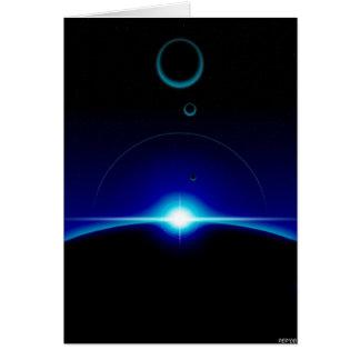Escena solar tarjeta de felicitación