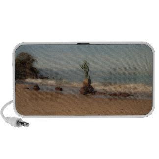 Escena soñadora de la playa iPhone altavoces