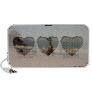 Escena soñadora de la playa iPhone altavoz