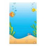 escena subacuática de los pescados lindos de la bu papeleria de diseño