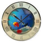 Escena subacuática reloj