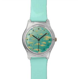 Escena subacuática relojes de pulsera
