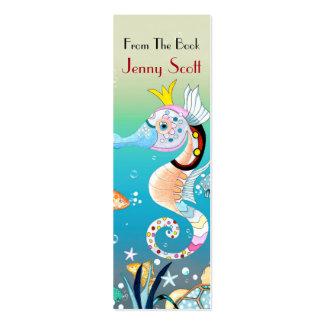 Escena subacuática, señal flaca de la tarjeta tarjetas de visita mini