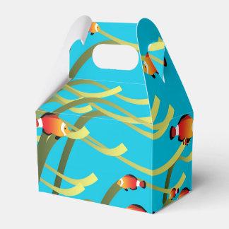 Escena subacuática simple caja para regalo de boda