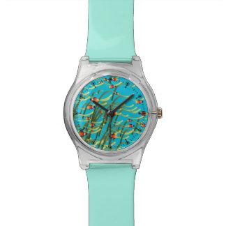 Escena subacuática simple reloj de mano