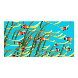 Escena subacuática simple tarjeta personal