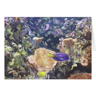 Escena subacuática tarjeta de felicitación