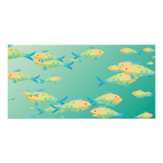 Escena subacuática tarjetas fotográficas personalizadas