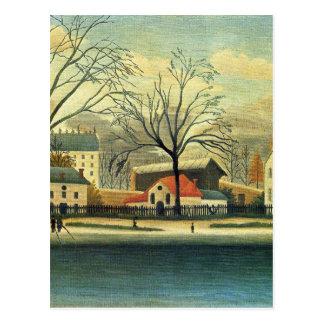 Escena suburbana de Henri Rousseau Postal