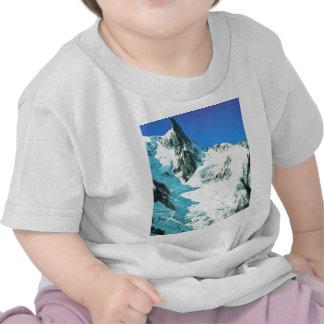 Escena suiza de la montaña camisetas