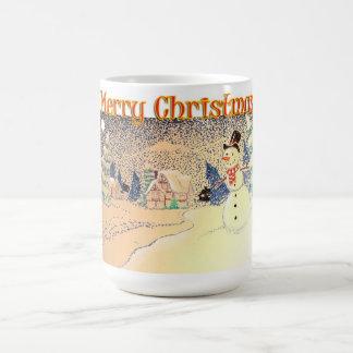 Escena tradicional del navidad taza clásica