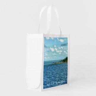Escena tropical bolsa reutilizable
