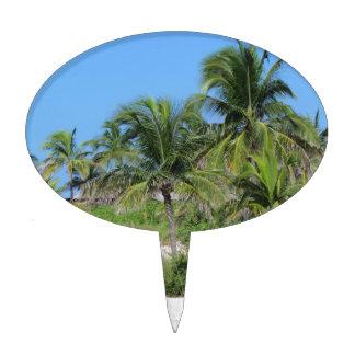 Escena tropical de la playa figura para tarta