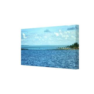 Escena tropical impresión de lienzo