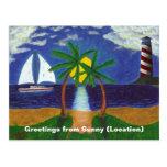 Escena tropical tarjeta postal