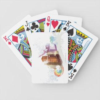 Escena urbana baraja cartas de poker