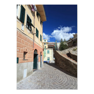 escena urbana en Bogliasco, Italia Invitacion Personalizada