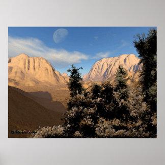Escena V.2 del desierto Poster