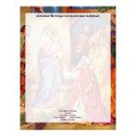 Escena Wisemen de la natividad del navidad Membrete A Diseño