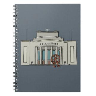 Escenario de pueblo Berlín Note Book