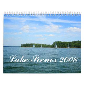Escenas 2008 del lago calendario de pared