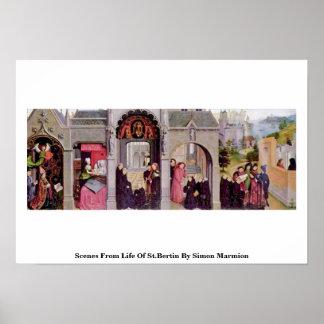 Escenas a partir de la vida de St.Bertin de Simon  Posters