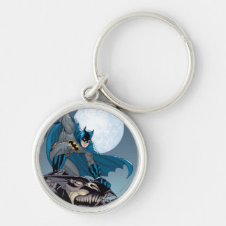 Escenas de Batman - Gargoyle Llavero Redondo Plateado