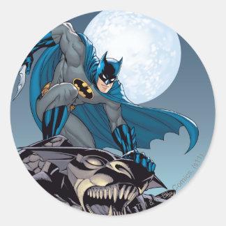 Escenas de Batman - Gargoyle Pegatina Redonda
