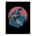 Escenas de Batman - pared de ladrillo Postal