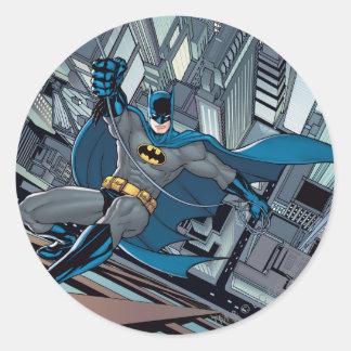 Escenas de Batman - pared del escalamiento Pegatina Redonda