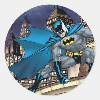 Escenas de Batman - torre Pegatina Redonda