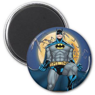 Escenas de Batman - vista delantera de la luna Imán Redondo 5 Cm