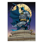Escenas de Batman - vista lateral de la luna Tarjeta De Felicitación