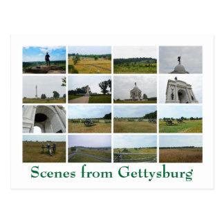 Escenas de Gettysburg Postales