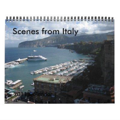 Escenas de Italia - calendario 2011
