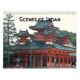 Escenas de Japón calendario de 12 meses
