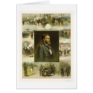 Escenas de la carrera de Grant por L. Prang & Tarjeta De Felicitación