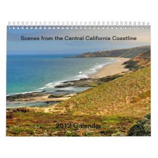 Escenas de la costa central de California Calendarios De Pared