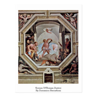 Escenas de la justicia romana de Domingo Beccafumi Postales