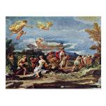 Escenas de la mitología: Vertumnus y Pomona por el Postal