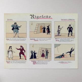 Escenas de la ópera 'Rigoletto Impresiones