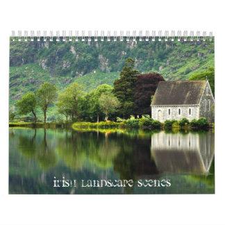 Escenas de Lanscape del irlandés Calendarios