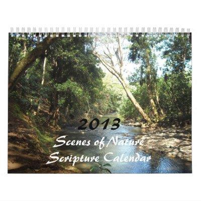Escenas de las escrituras de la naturaleza para 20 calendarios
