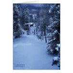 Escenas de las vacaciones de invierno ArtCard Tarjeton